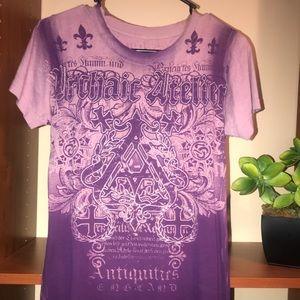 ❗️FLASH SALE❗️Archaic Purple Graphic Tee Buckle ❤️